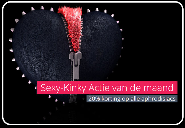 actie 20% korting op alle afrodisiacs - Altered State